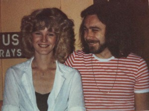 Me, with Ian Hill, the bass player for Judas Priest (about 1981).