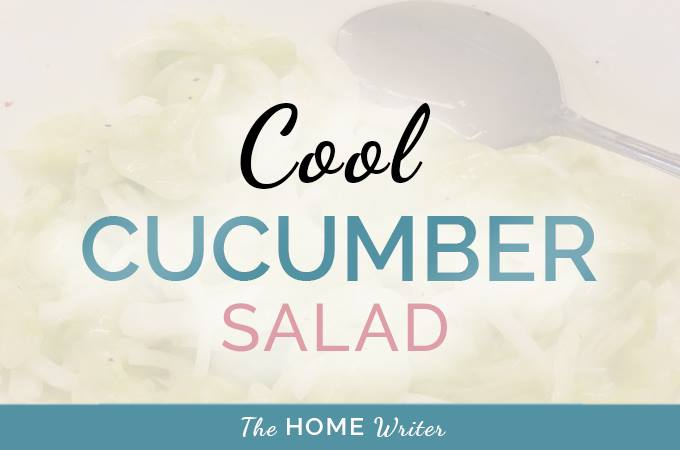 Cool Summer Cucumber Salad
