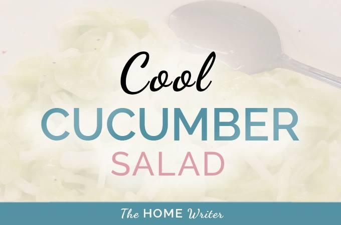 Cool Summer Cucumber Salad